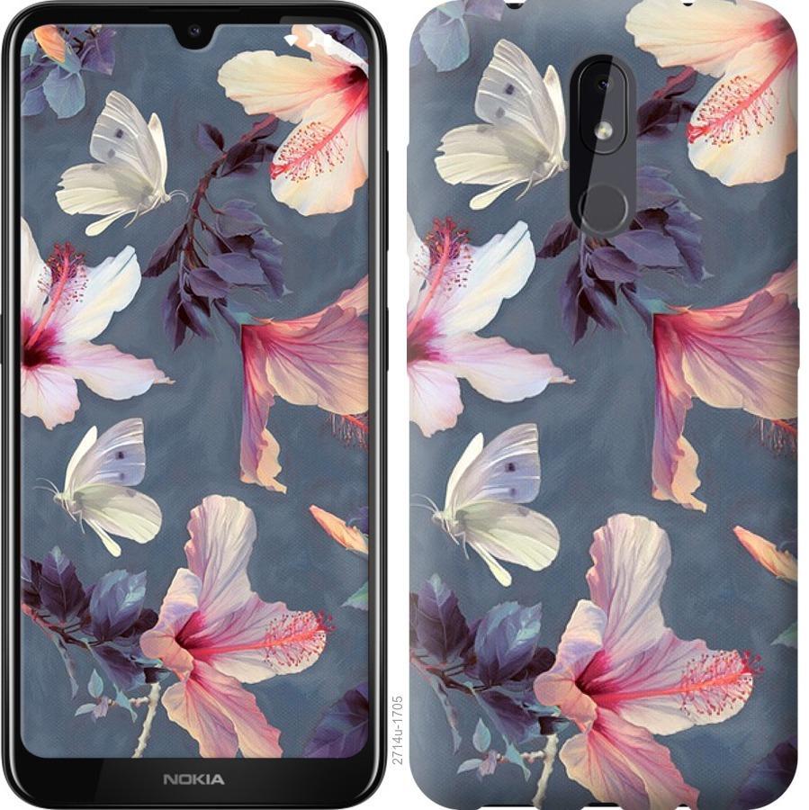 Чехол на Nokia 3.2 Нарисованные цветы