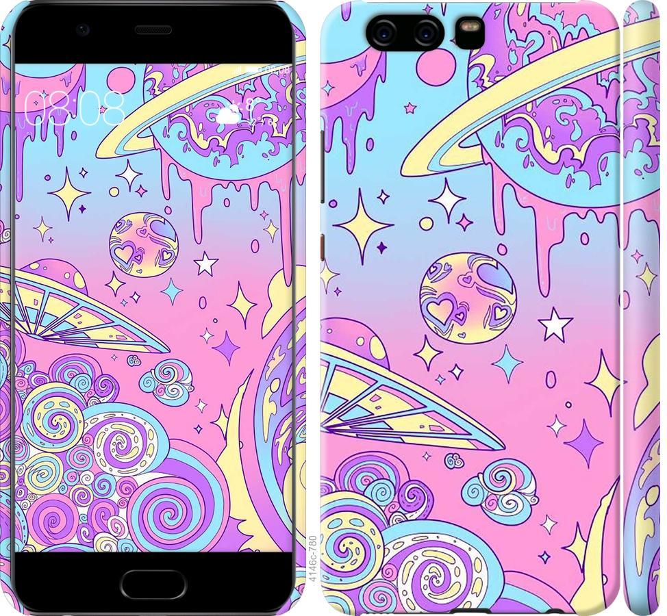 Чехол на Huawei P10 Розовая галактика