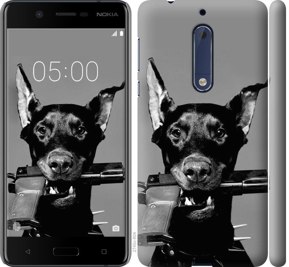 Чехол на Nokia 5 Доберман