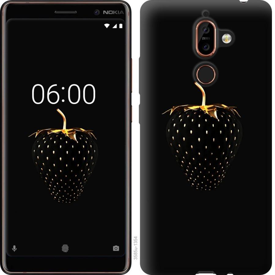 Чехол на Nokia 7 Plus Черная клубника