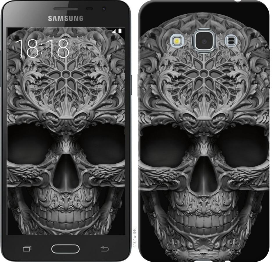 Чехол на Samsung Galaxy J3 Pro skull-ornament