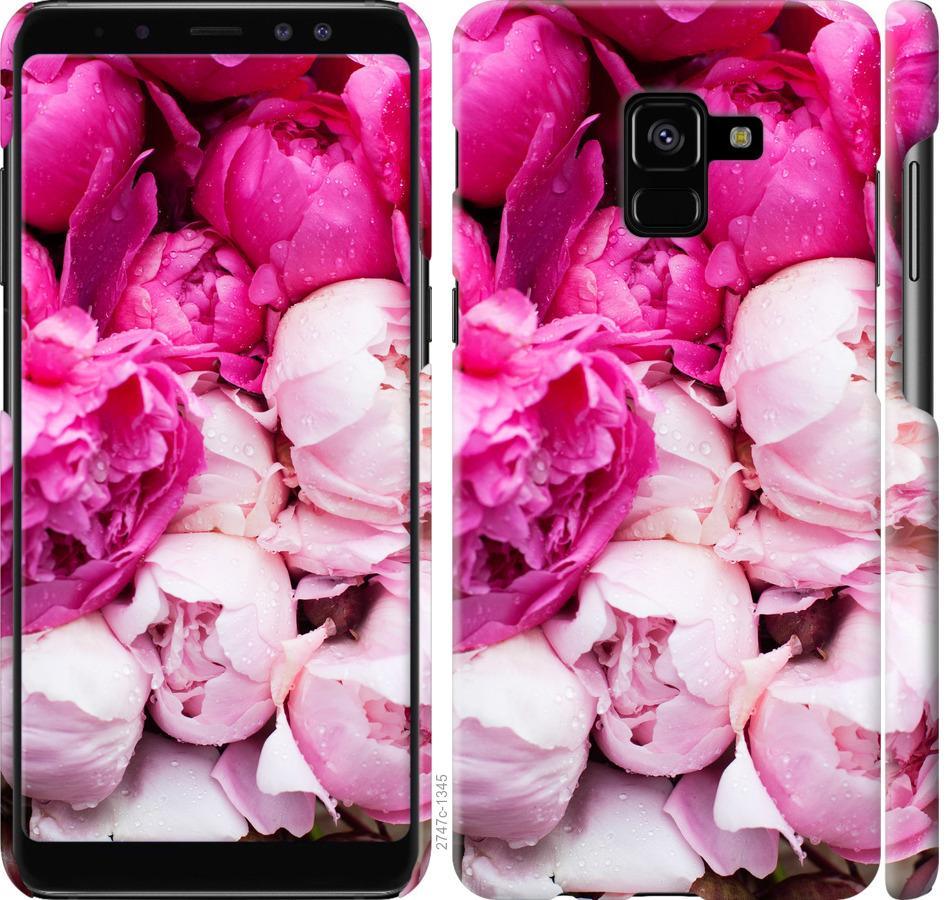 Чехол на Samsung Galaxy A8 Plus 2018 A730F Розовые пионы
