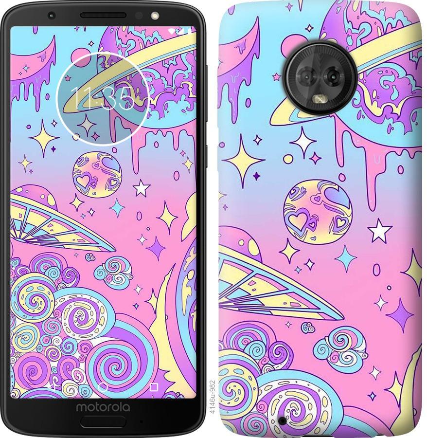 Чохол на Motorola Moto G6 Рожева галактика