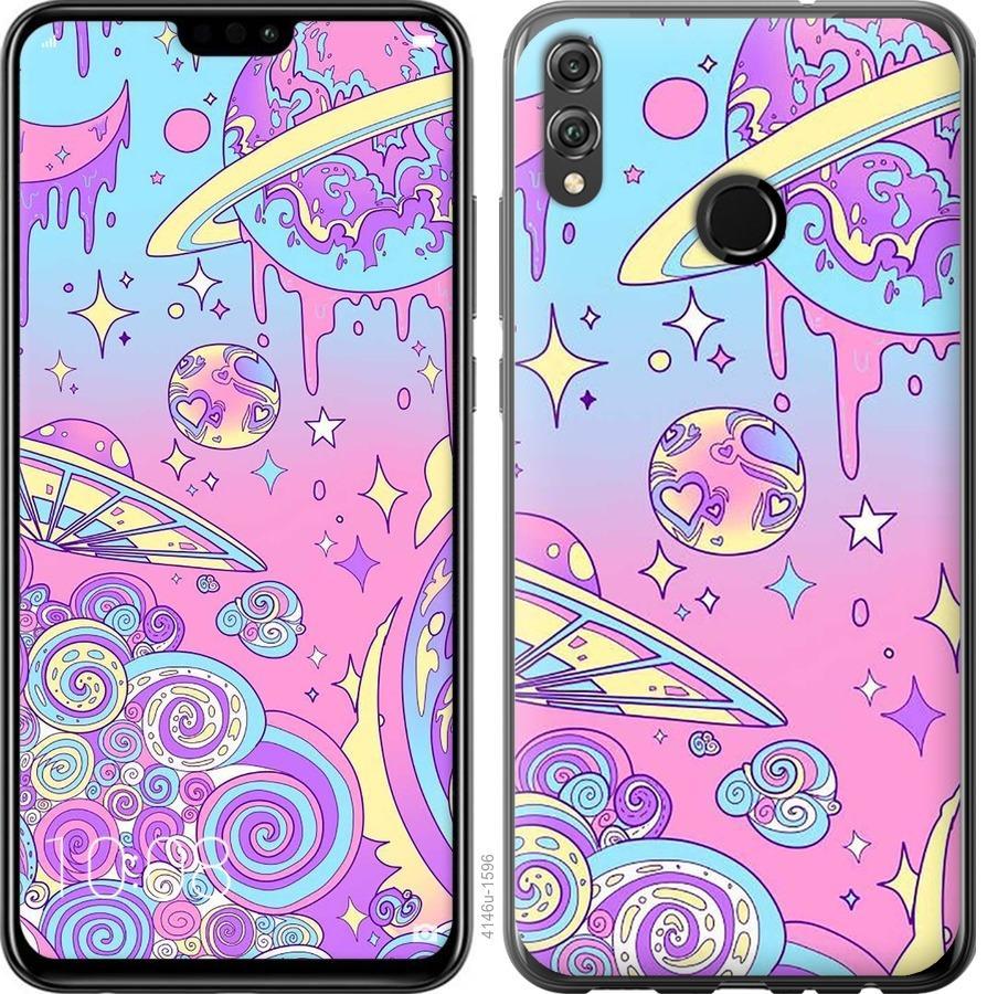 Чехол на Huawei Honor 8X Розовая галактика