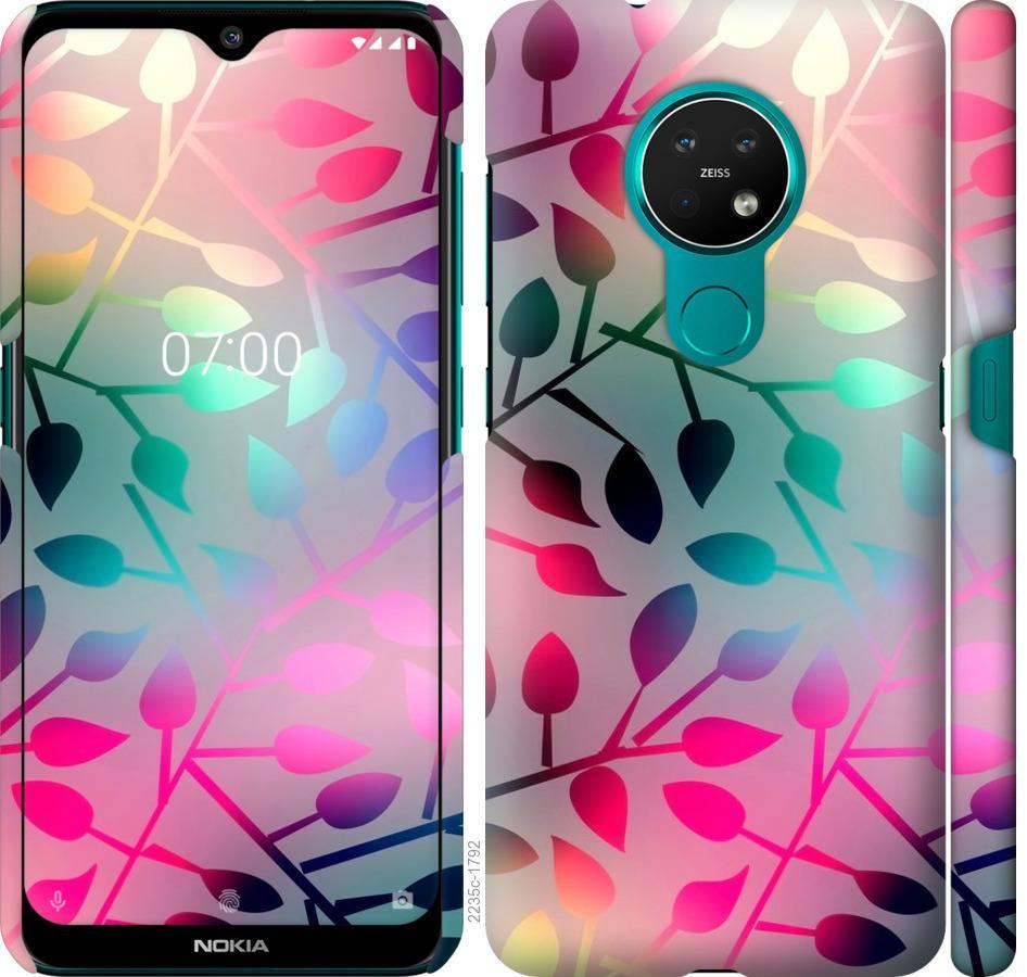Чехол на Nokia 7.2 Листья