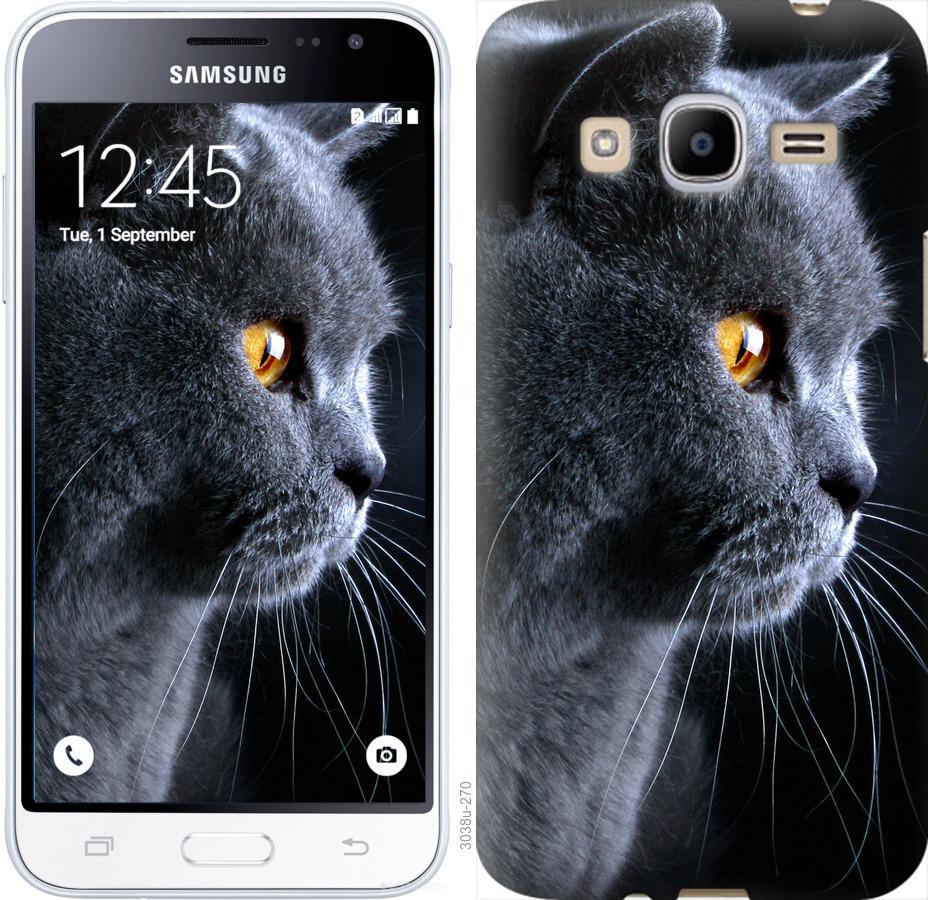 Чехол на Samsung Galaxy J2 (2016) J210 Красивый кот
