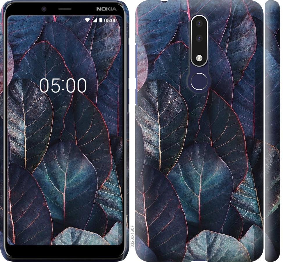 Чехол на Nokia 3.1 Plus Листья v3