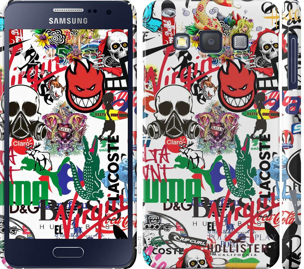 Чохол на Samsung Galaxy A3 A300H Many different logos