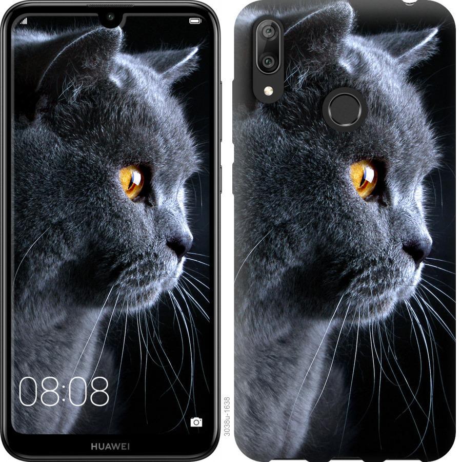 Чехол на Huawei Y7 2019 Красивый кот