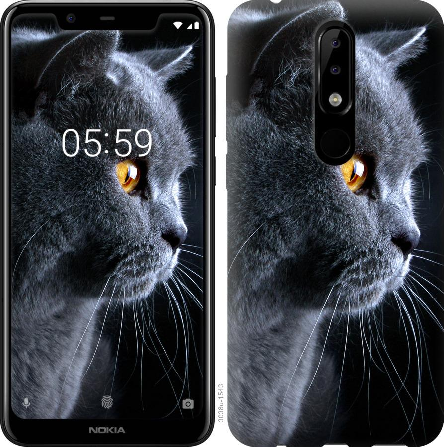 Чехол на Nokia 5.1 Plus Красивый кот