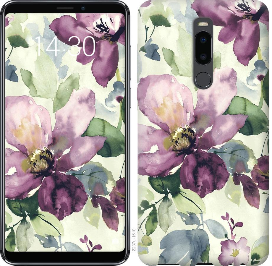 Чехол на Meizu Note 8 Цветы акварелью