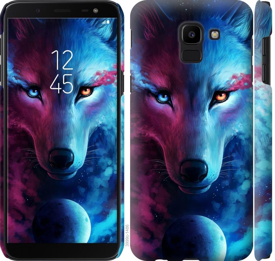 Чехол на Samsung Galaxy J6 2018 Арт-волк