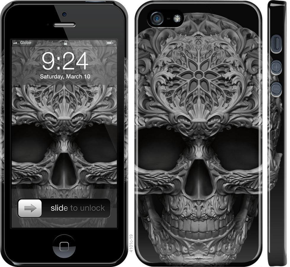 Чехол на iPhone SE skull-ornament