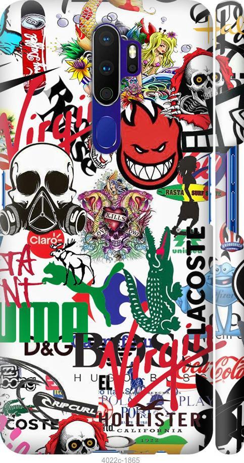 Чехол на Oppo A5 2020 Many different logos