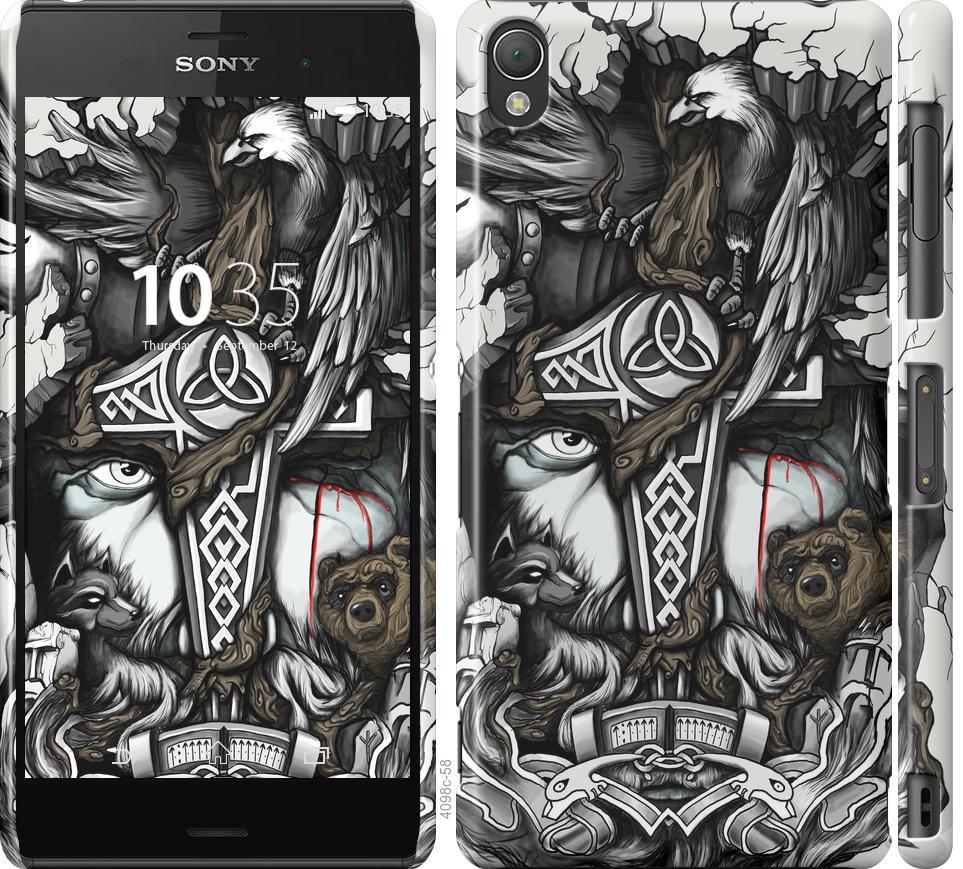 Чехол на Sony Xperia Z3 D6603 Тату Викинг