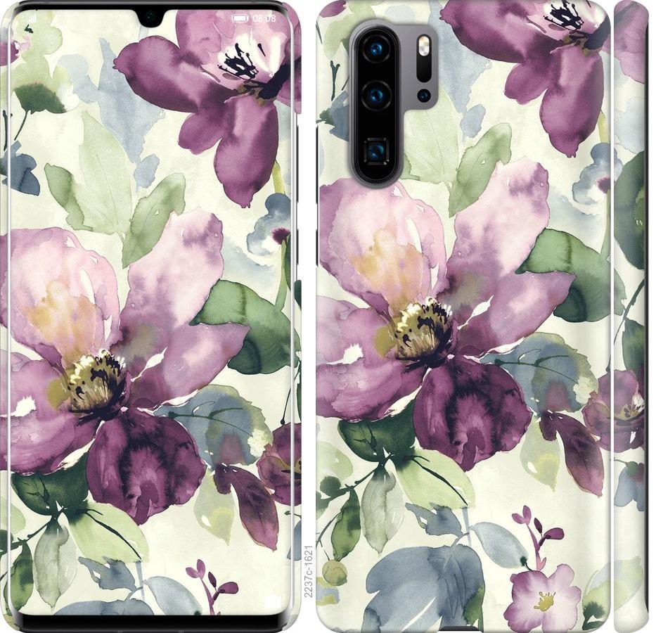 Чехол на Huawei P30 Pro Цветы акварелью