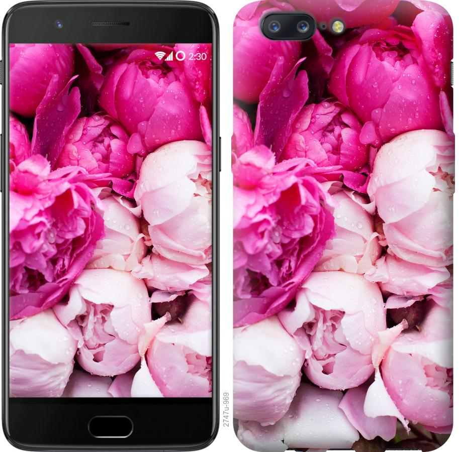 Чехол на OnePlus 5 Розовые пионы