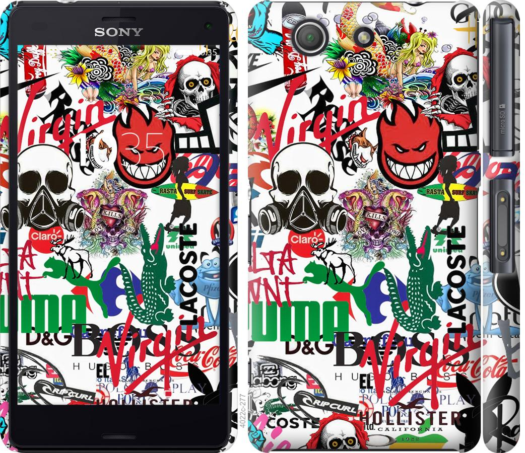 Чохол на Sony Xperia Z3 Compact D5803 Many different logos