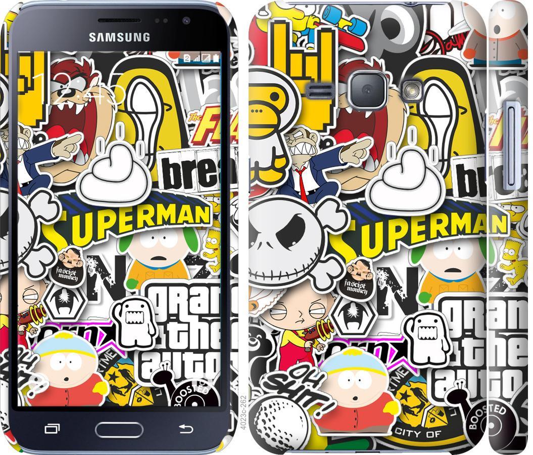 Чехол на Samsung Galaxy J1 (2016) Duos J120H Popular logos