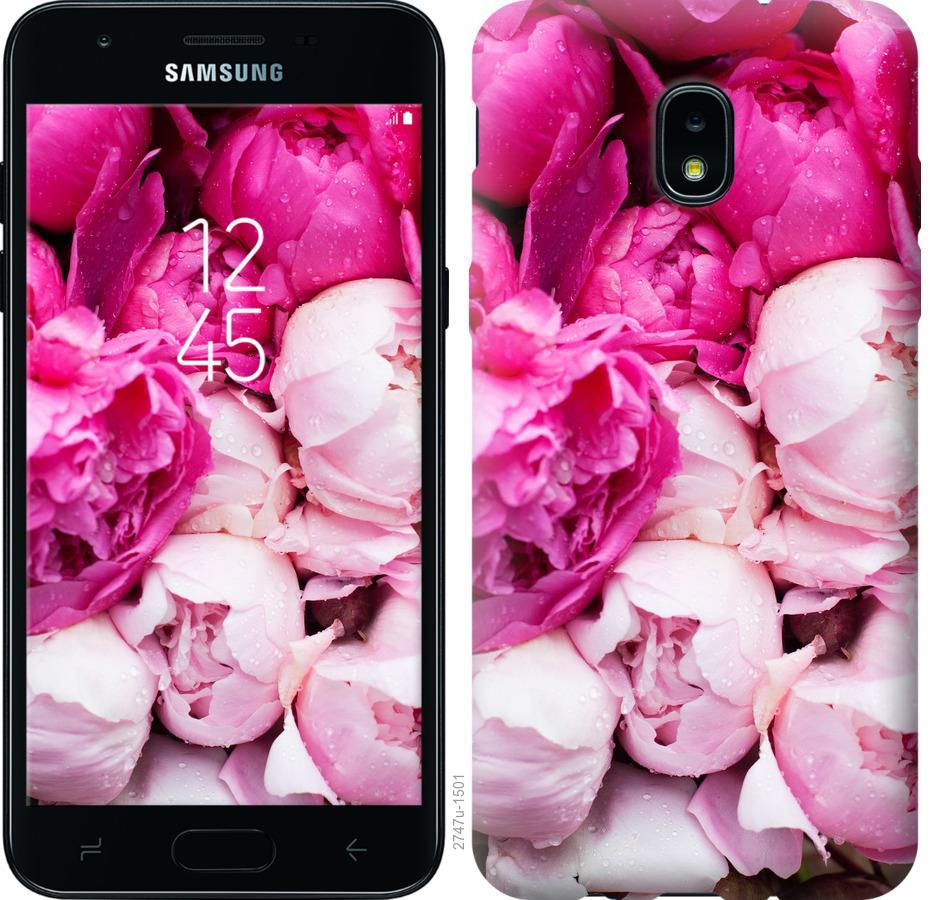 Чохол на Samsung Galaxy J3 2018 Рожеві півонії