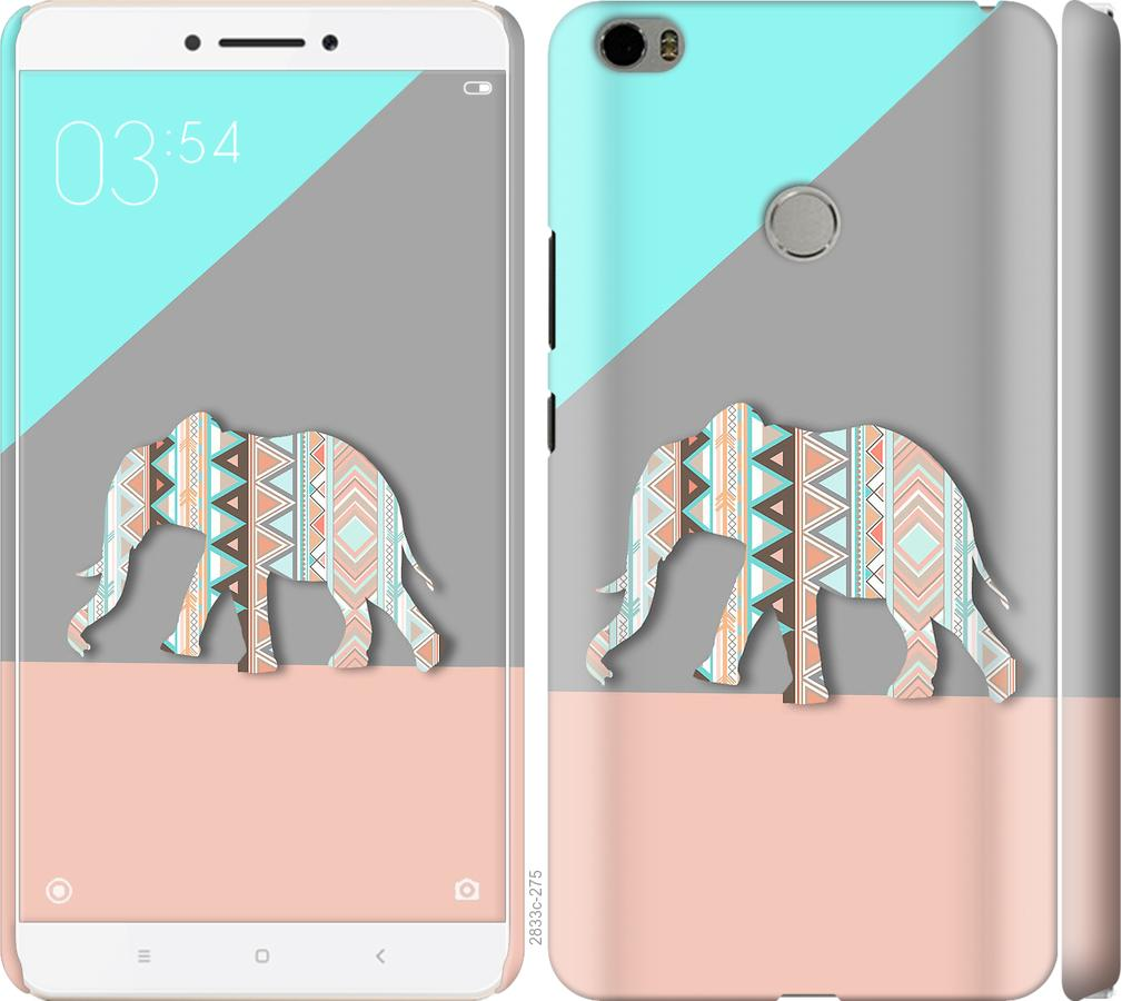 Чехол на Xiaomi Mi Max Узорчатый слон