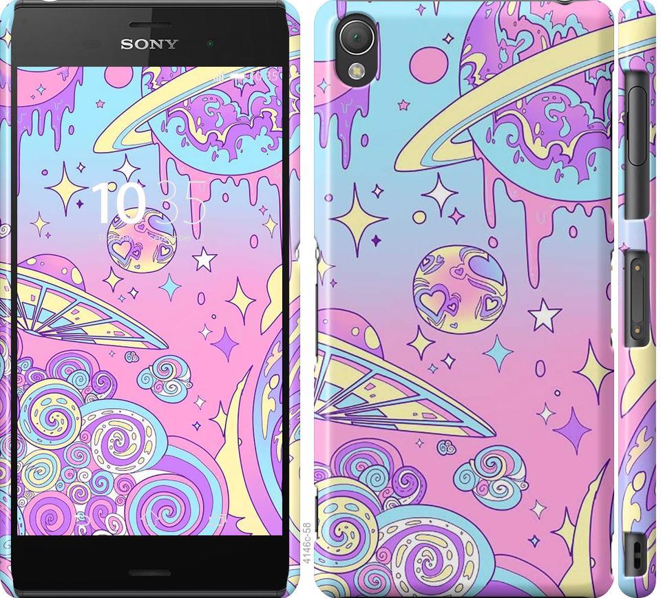 Чехол на Sony Xperia Z3 D6603 Розовая галактика