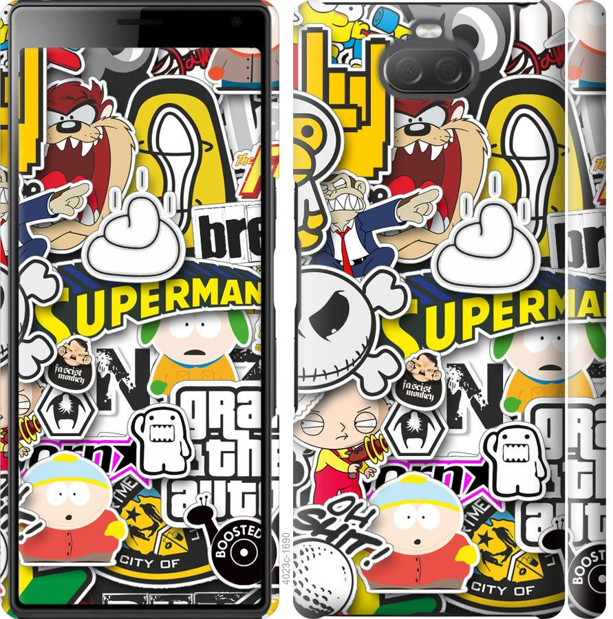 Чехол на Sony Xperia 10 Plus I4213 Popular logos
