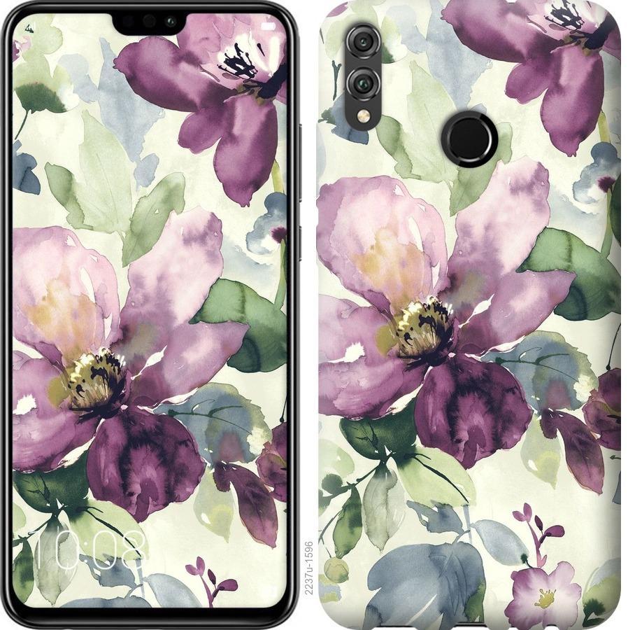 Чехол на Huawei Honor 8X Цветы акварелью