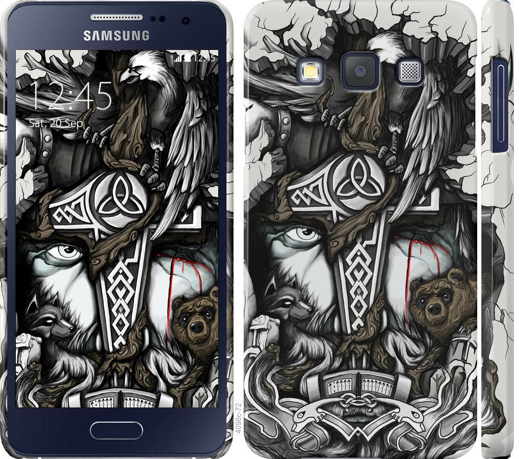 Чехол на Samsung Galaxy A3 A300H Тату Викинг