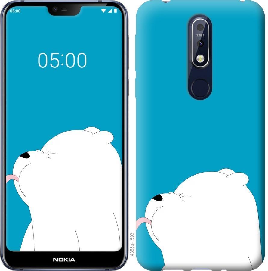 Чехол на Nokia 7.1 Мишка 1