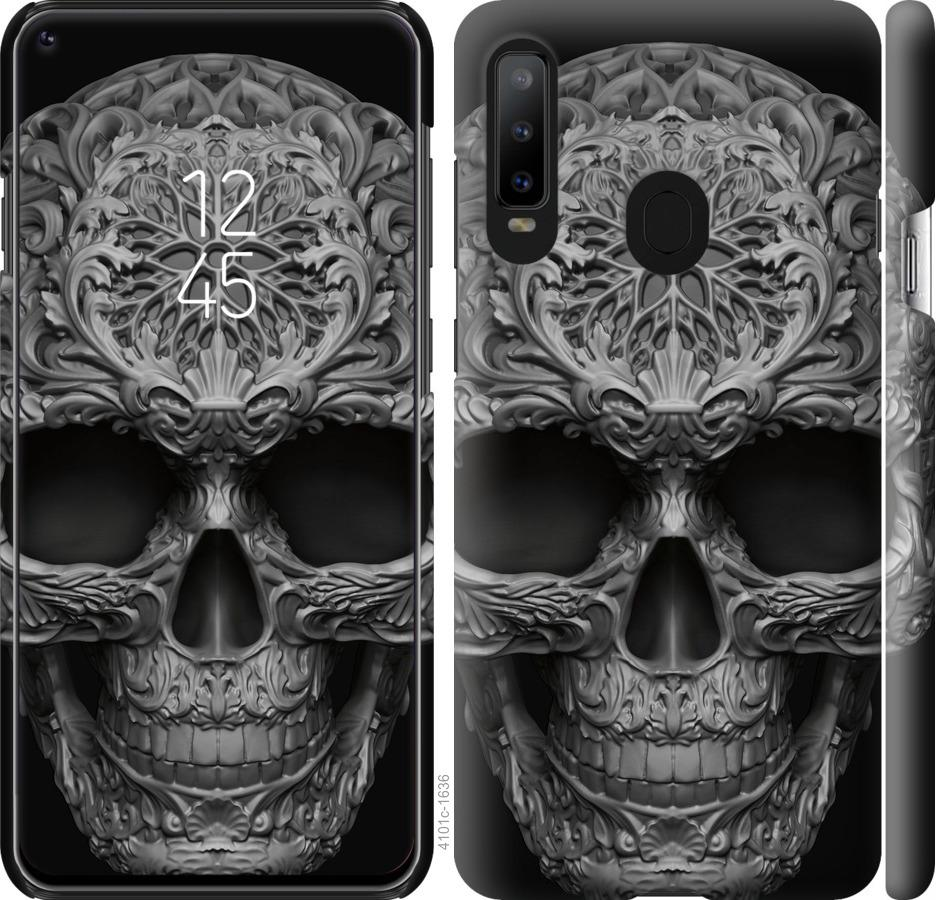 Чехол на Samsung Galaxy A8S skull-ornament