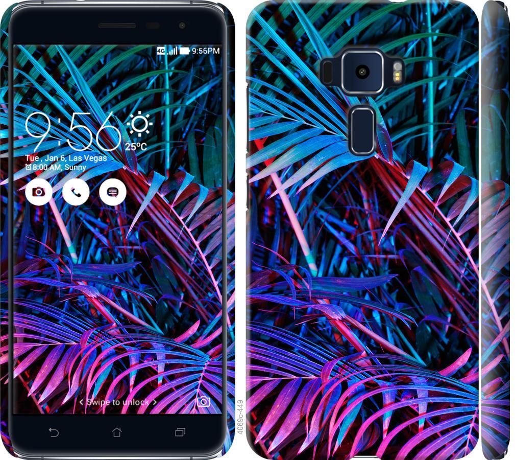 Чехол на Asus Zenfone 3 ZE520KL Папоротник под ультрафиолетом