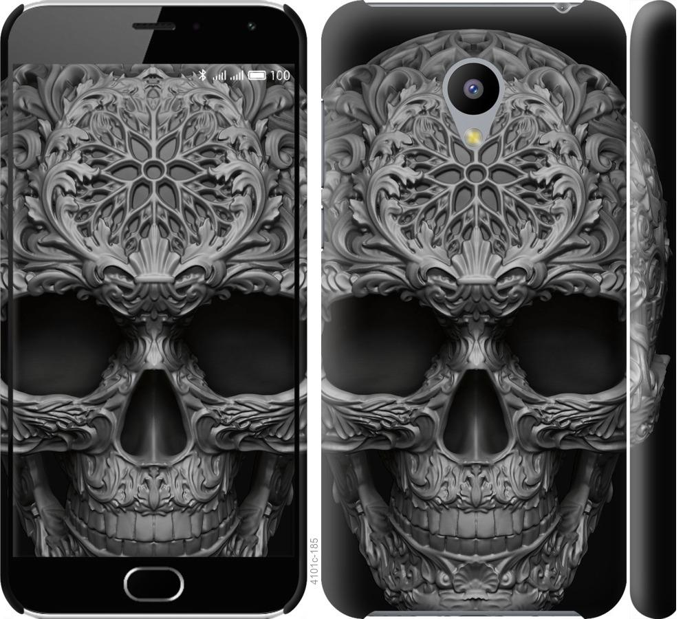 Чехол на Meizu M2 skull-ornament