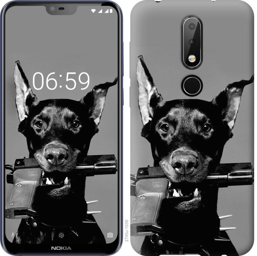 Чехол на Nokia 6.1 Plus Доберман