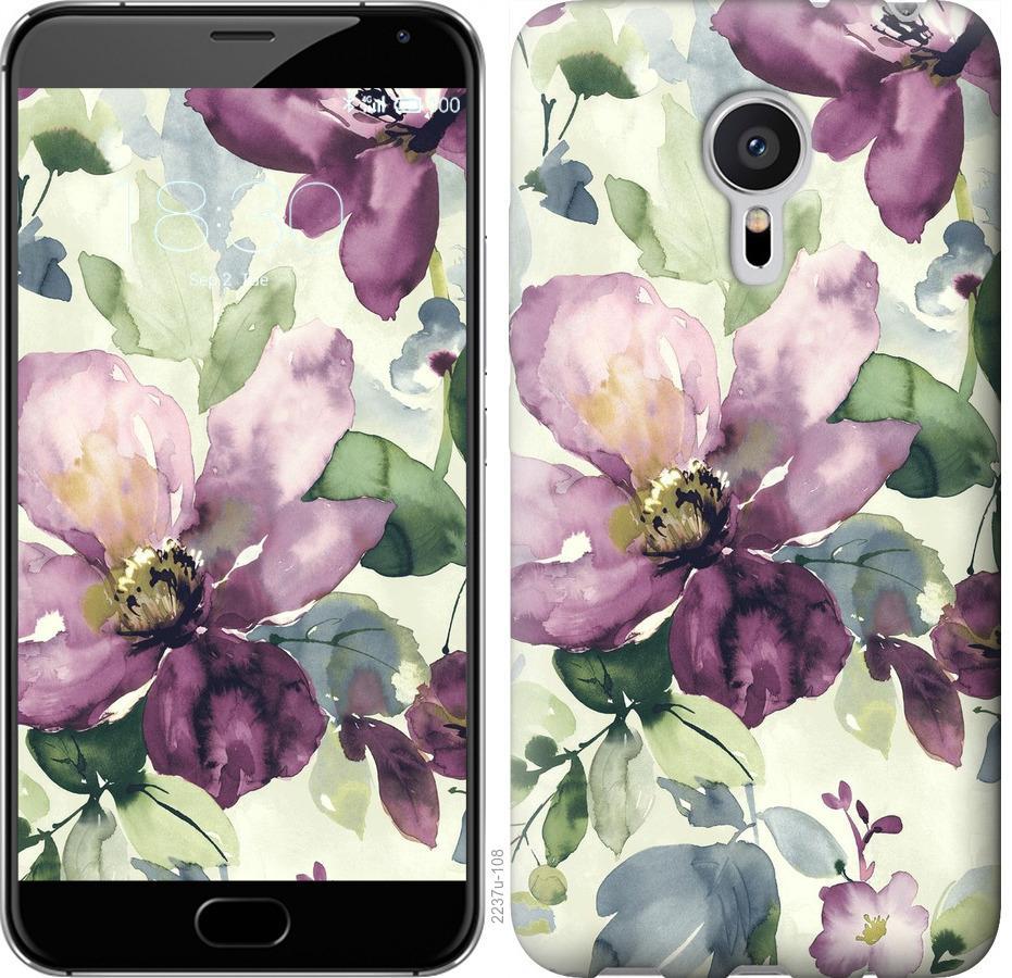 Чехол на Meizu Pro 5 Цветы акварелью