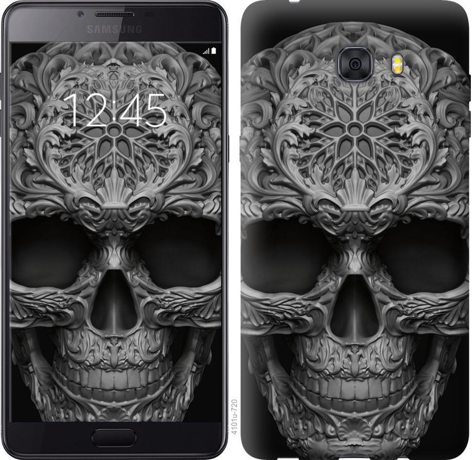 Чехол на Samsung Galaxy C9 Pro skull-ornament
