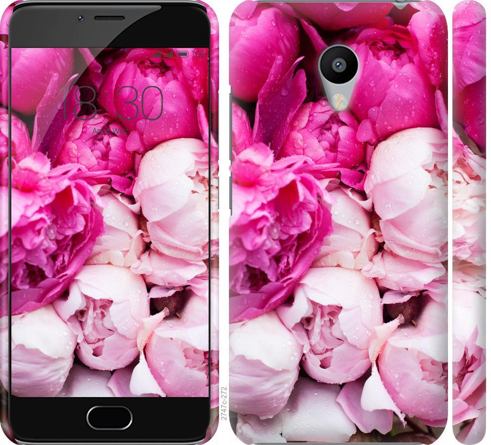 Чехол на Meizu M3s Розовые пионы