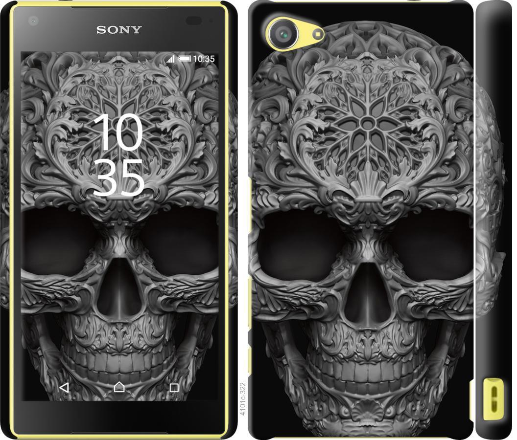 Чехол на Sony Xperia Z5 Compact E5823 skull-ornament