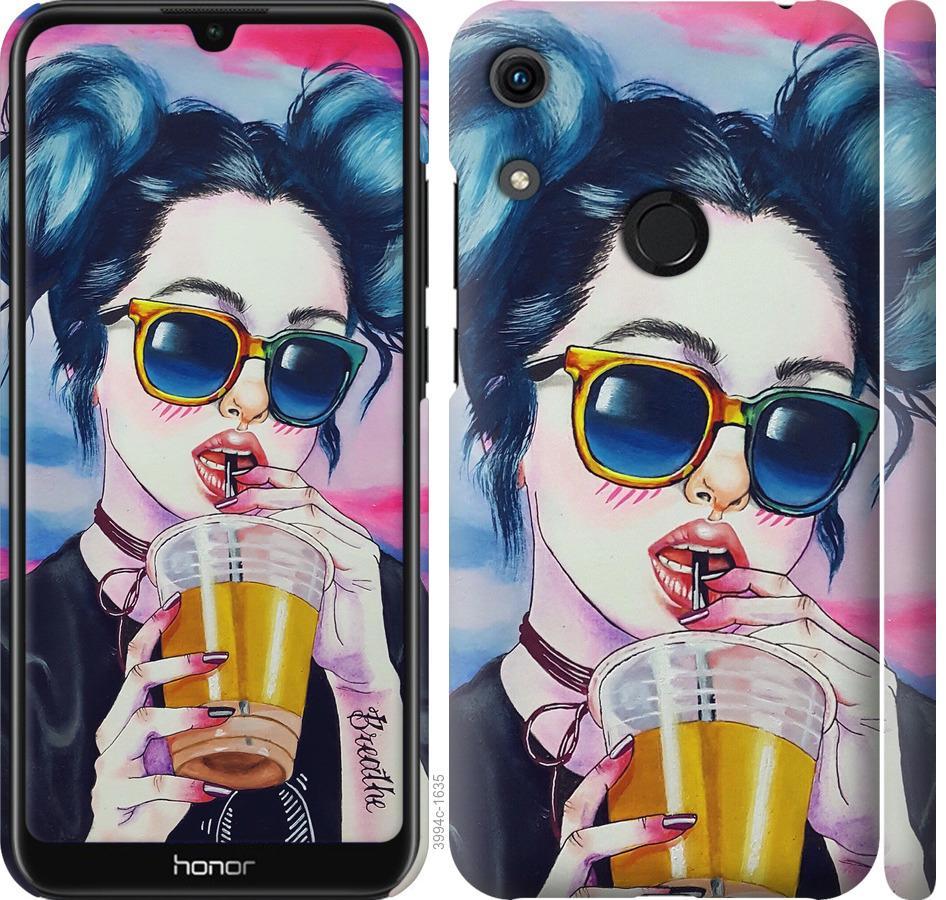 Чехол на Huawei Honor 8A Арт-девушка в очках