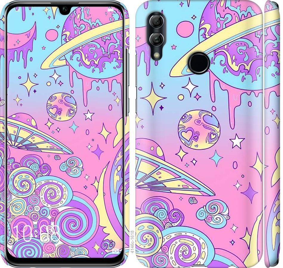 Чехол на Huawei Honor 10 Lite Розовая галактика