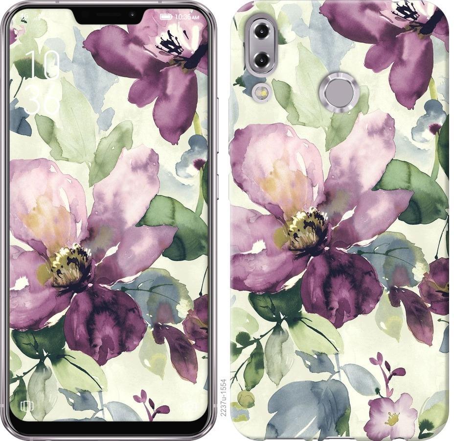 Чехол на Asus Zenfone 5 ZE620KL Цветы акварелью
