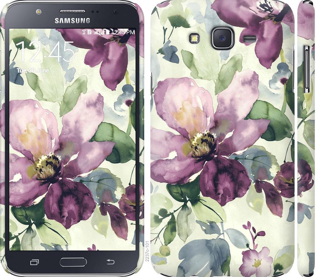 Чехол на Samsung Galaxy J7 J700H Цветы акварелью