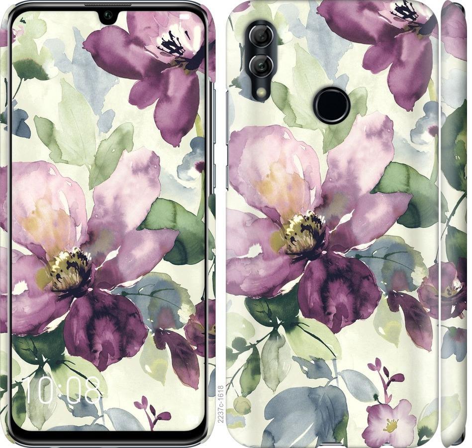 Чехол на Huawei Honor 10 Lite Цветы акварелью