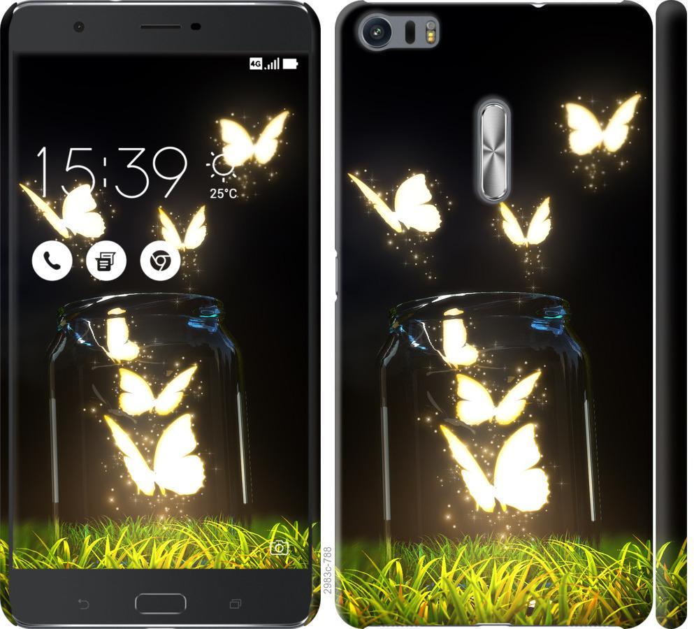 Чохол на Asus Zenfone 3 Ultra ZU680KL  Сяючі метелики