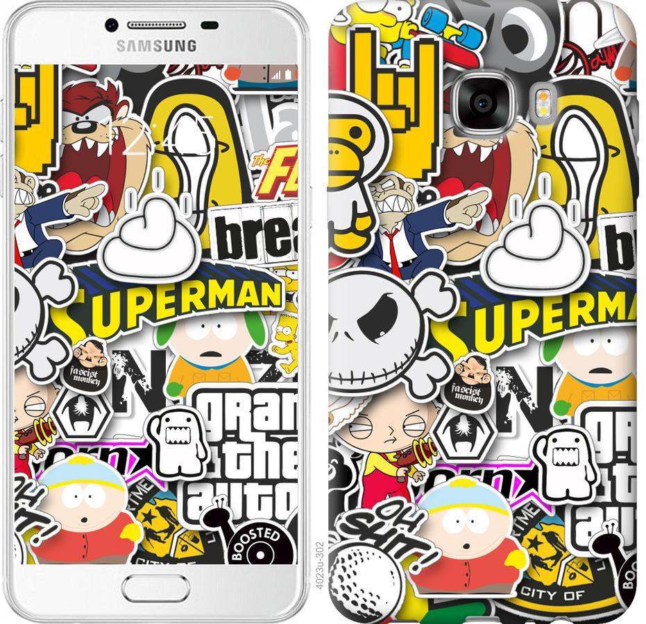 Чехол на Samsung Galaxy C7 C7000 Popular logos