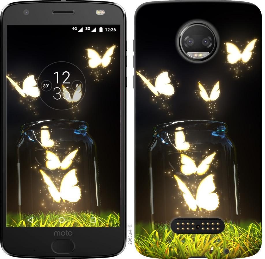 Чохол на Motorola Moto G5 PLUS  Сяючі метелики
