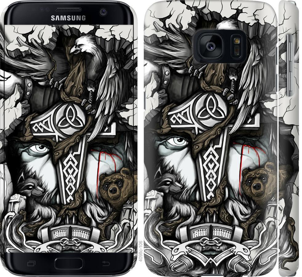 Чехол на Samsung Galaxy S7 G930F Тату Викинг