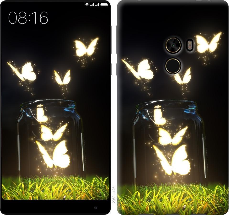 Чехол на Xiaomi Mi MiX Светящиеся бабочки