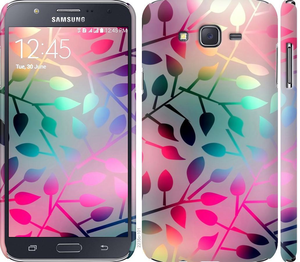 Чехол на Samsung Galaxy J7 J700H Листья
