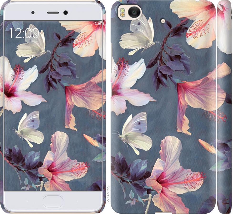 Чехол на Xiaomi Mi 5s Нарисованные цветы